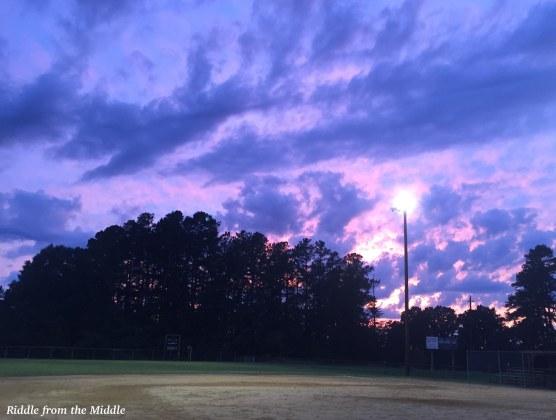 softball sunset