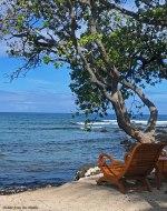 chair at ocean