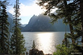 Tetons lake&mountains
