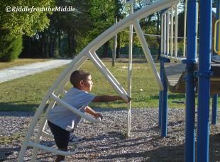 climbing on playground
